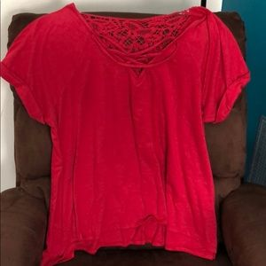 Tops - Red Fancy Top